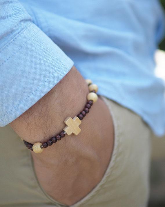 Bracelet dizainier bois clair/noir